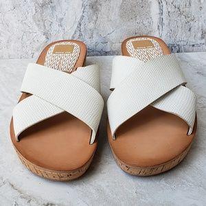 Dolce Vita Shoes - Dolce Vita MONICA pebbled leather slide sandal 8.5